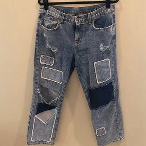 LF Carmar Patchwork Boyfriend Jeans